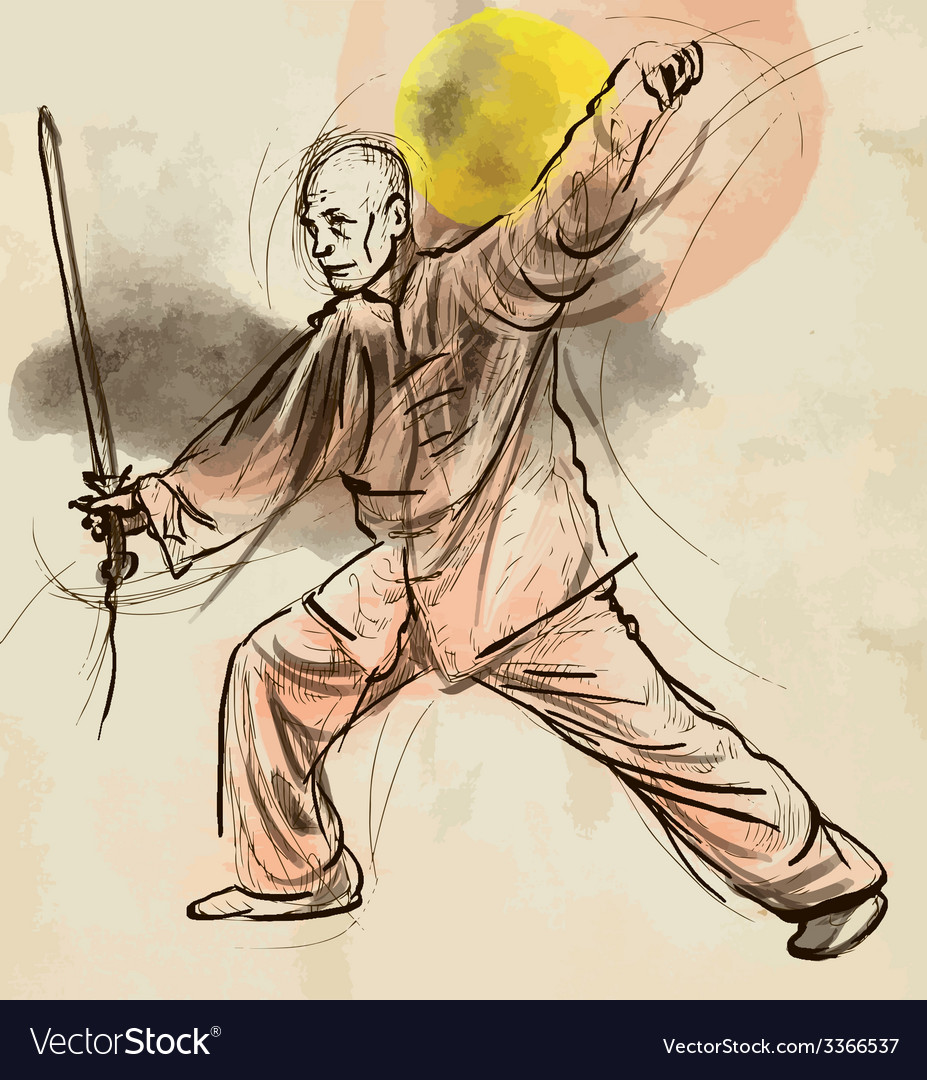 Taiji tai chi an hand drawn converted into vector | Price: 1 Credit (USD $1)