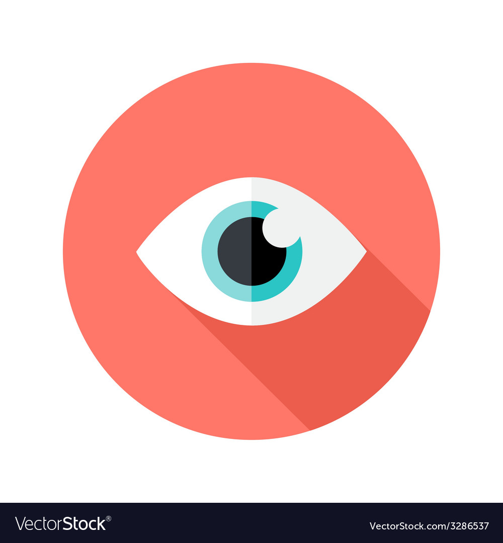 Vision eye circle flat icon vector | Price: 1 Credit (USD $1)