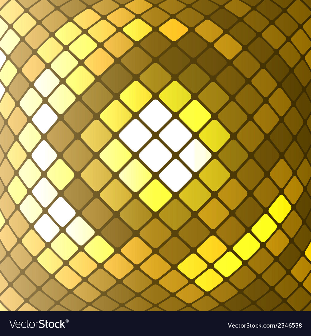 Abstract golden mosaic background vector | Price: 1 Credit (USD $1)