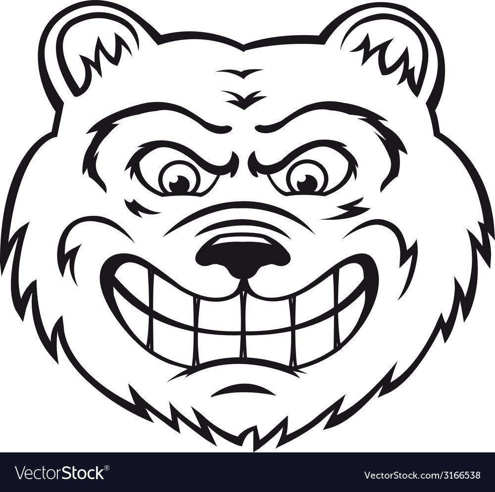 Angry bear vector | Price: 1 Credit (USD $1)
