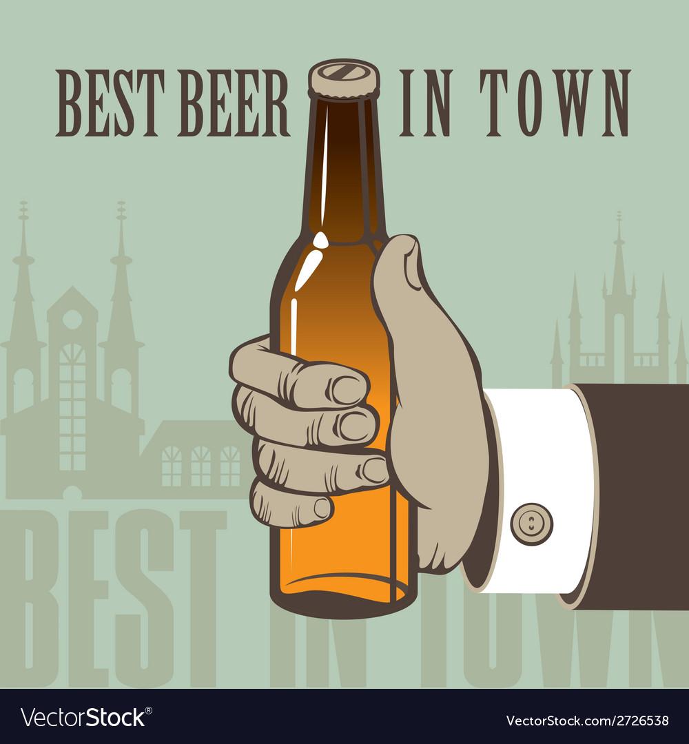 Best beer vector | Price: 1 Credit (USD $1)
