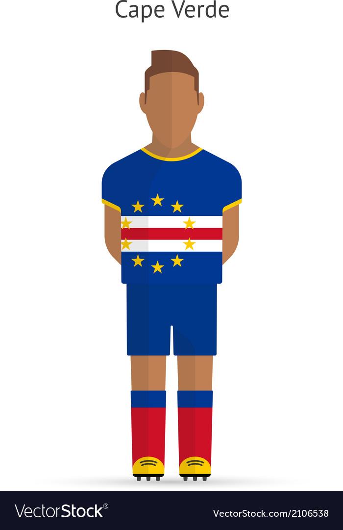 Cape verde football player soccer uniform vector | Price: 1 Credit (USD $1)