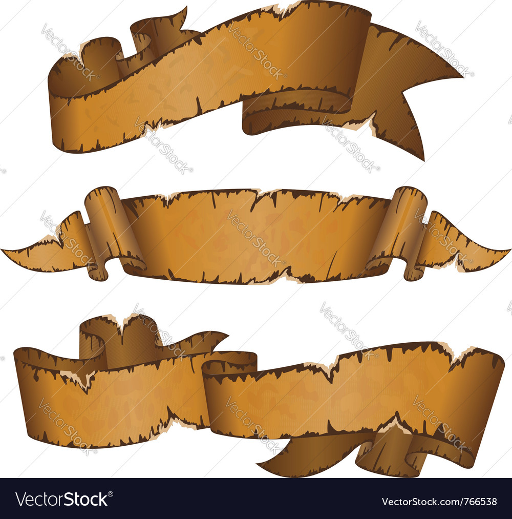 Dirty old ribbons vector | Price: 1 Credit (USD $1)