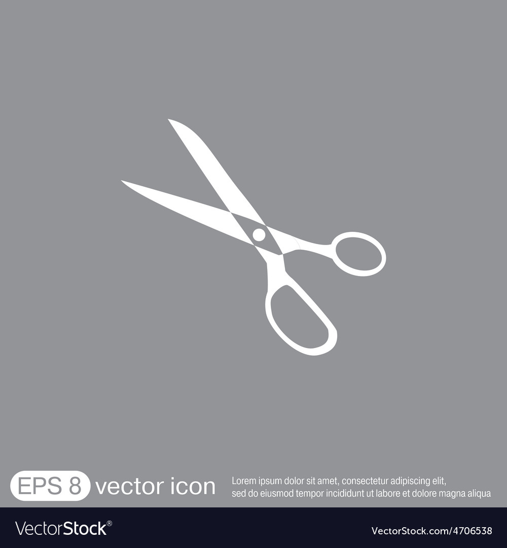 Icon scissors sewing and fashion vector | Price: 1 Credit (USD $1)