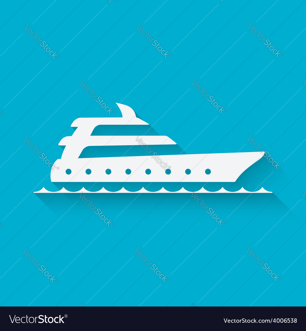 Marine background with yacht vector | Price: 1 Credit (USD $1)