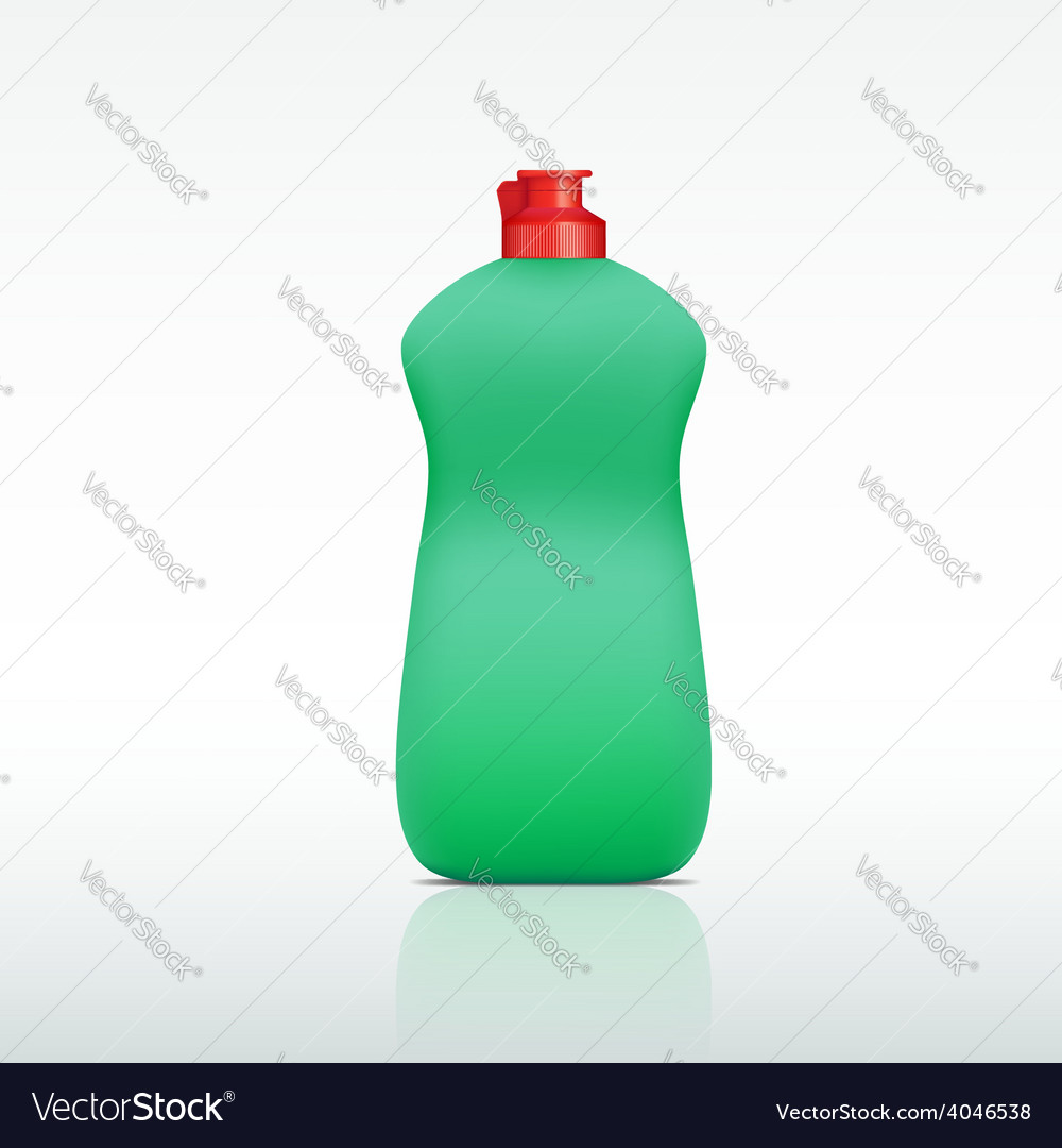 Plastic bottle of detergent vector | Price: 1 Credit (USD $1)