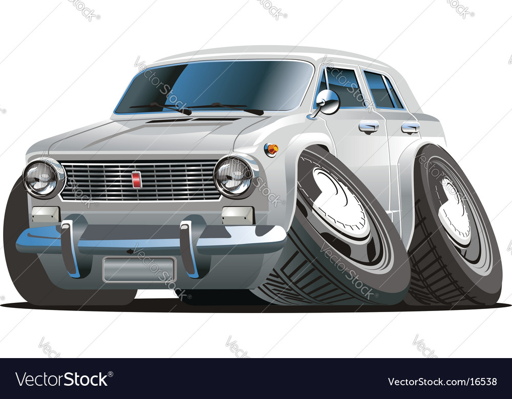 Retro cartoon car vector | Price: 3 Credit (USD $3)