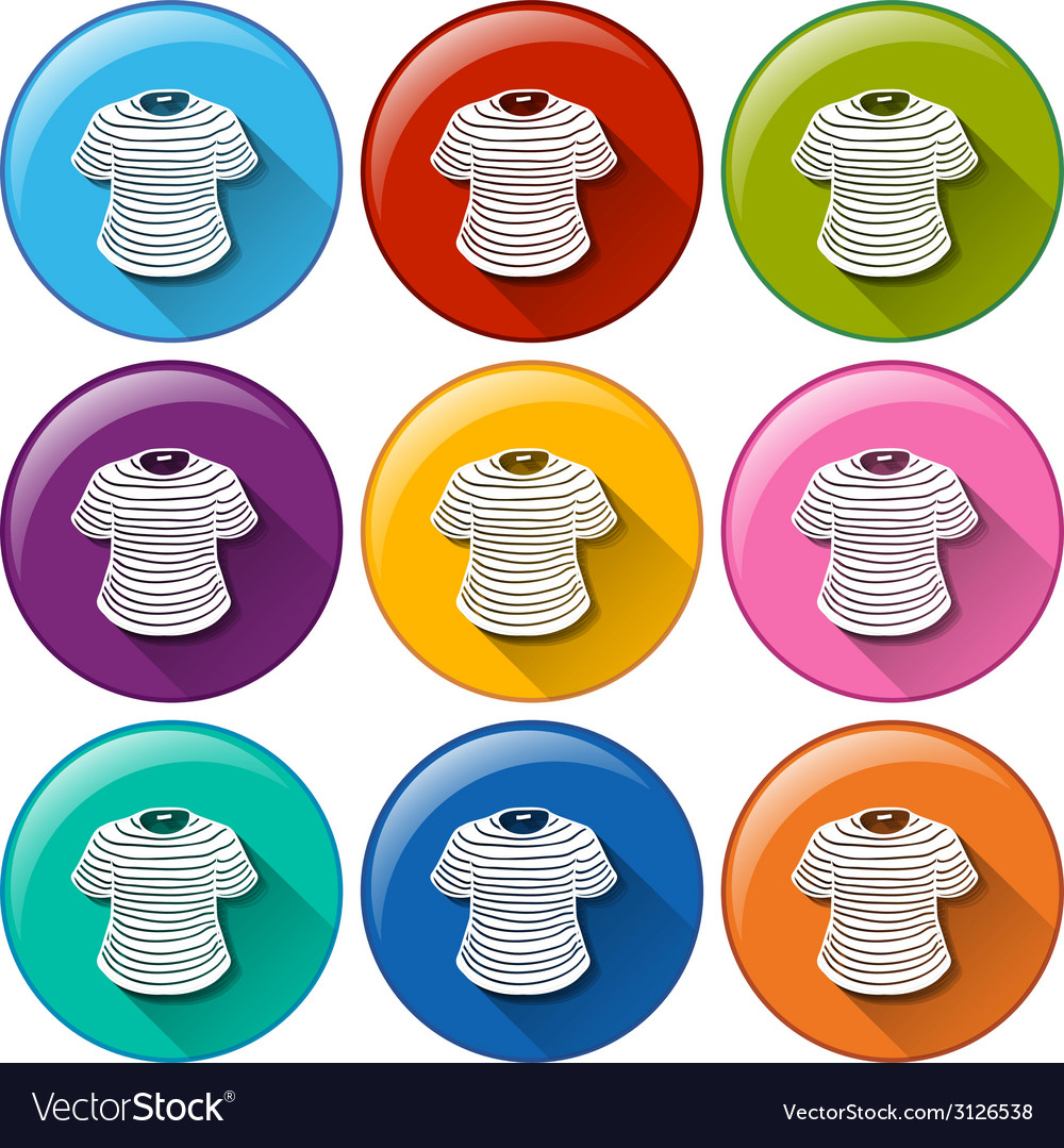 Rounded buttons with shirts vector | Price: 1 Credit (USD $1)