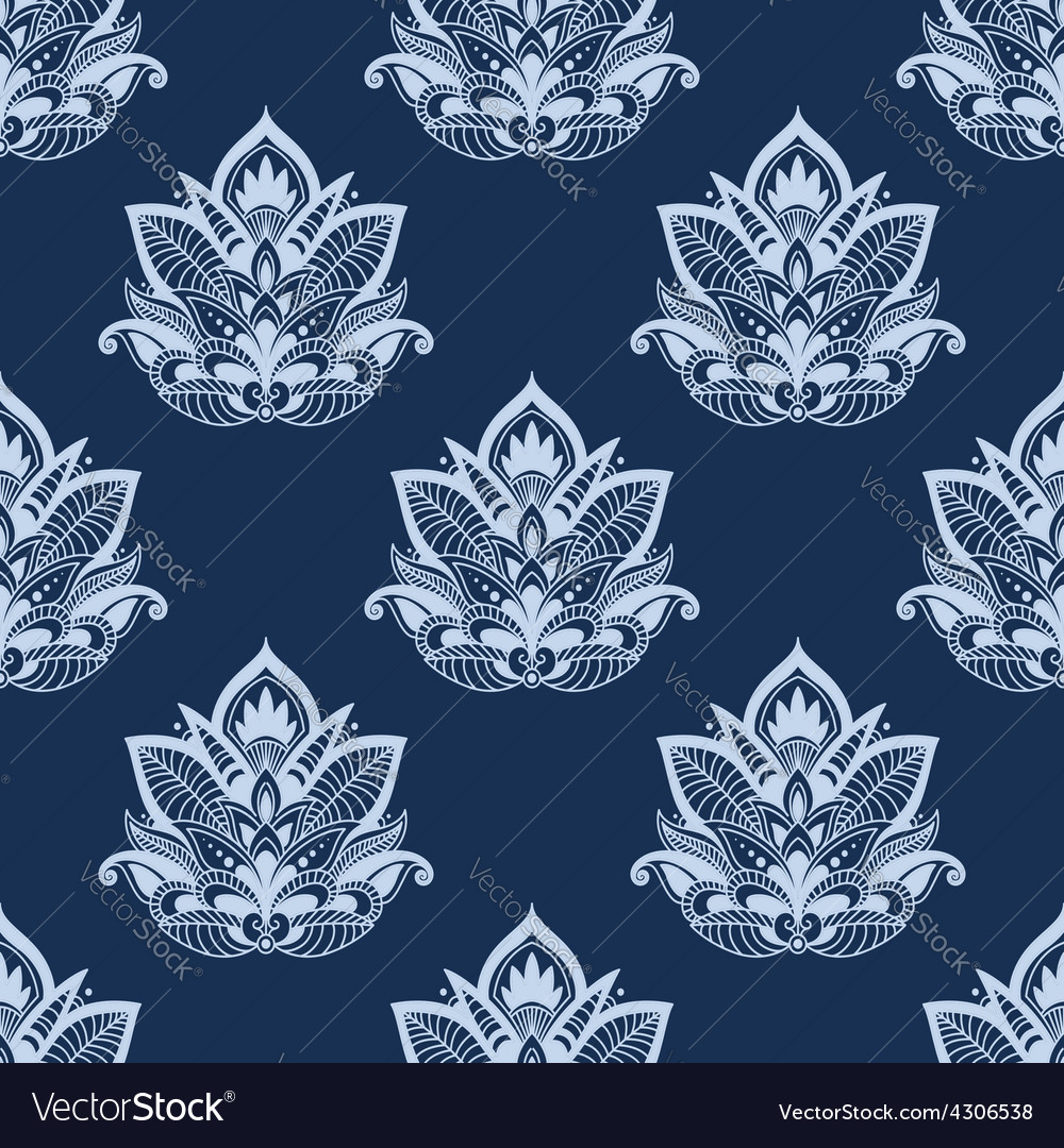 Seamless abstract paisley foliage compositions vector | Price: 1 Credit (USD $1)