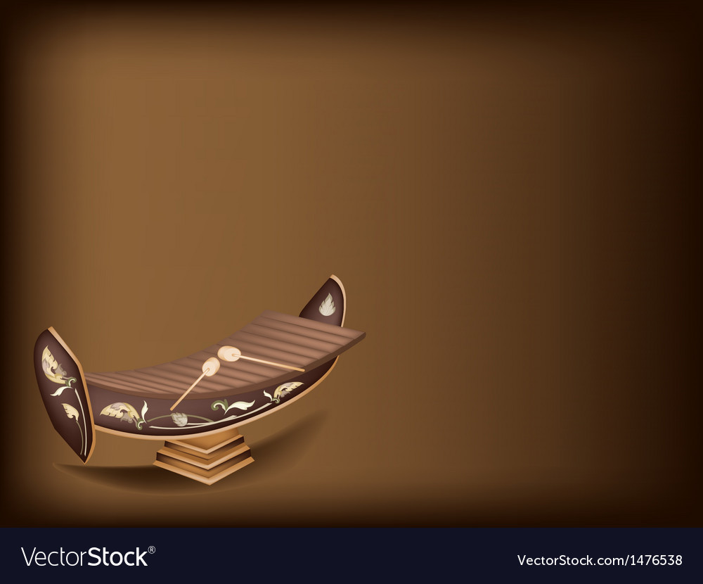 Thai xylophone brown background vector   Price: 1 Credit (USD $1)