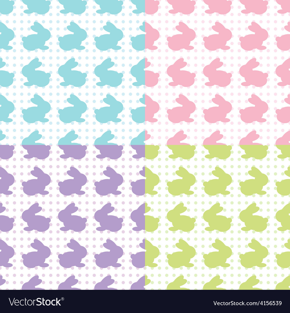 Bunnies silhouettes vector | Price: 1 Credit (USD $1)