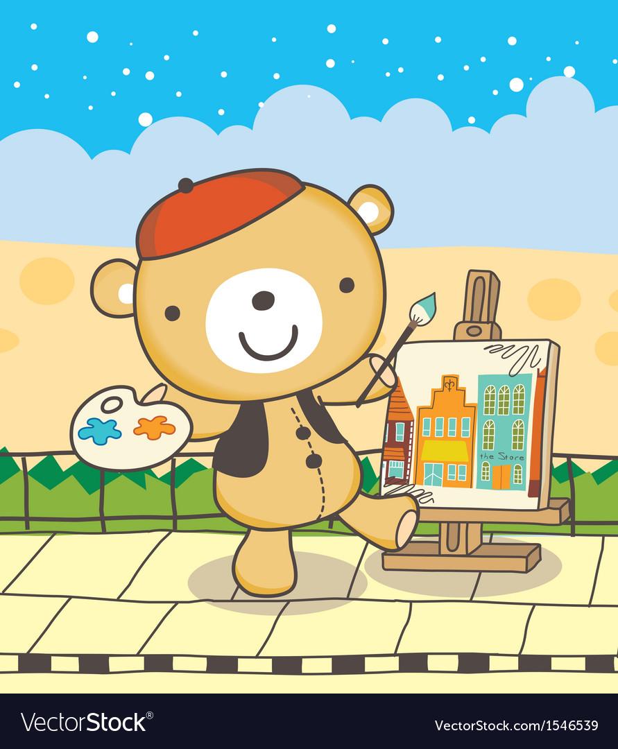 Drawing bear vector | Price: 3 Credit (USD $3)