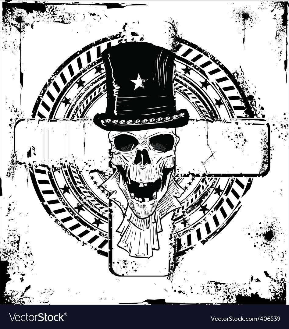 Grunge skull background vector | Price: 1 Credit (USD $1)