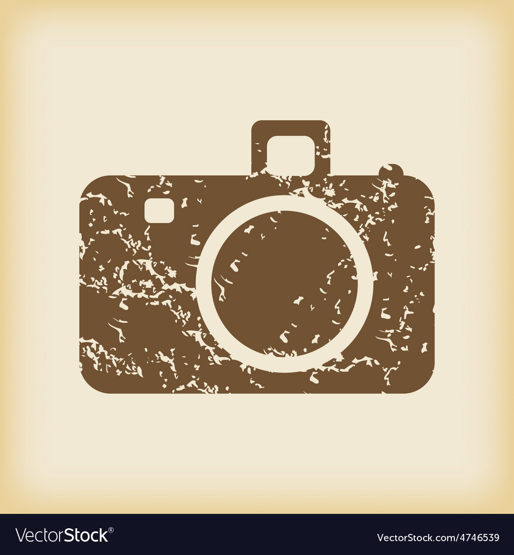 Grungy camera icon vector | Price: 1 Credit (USD $1)