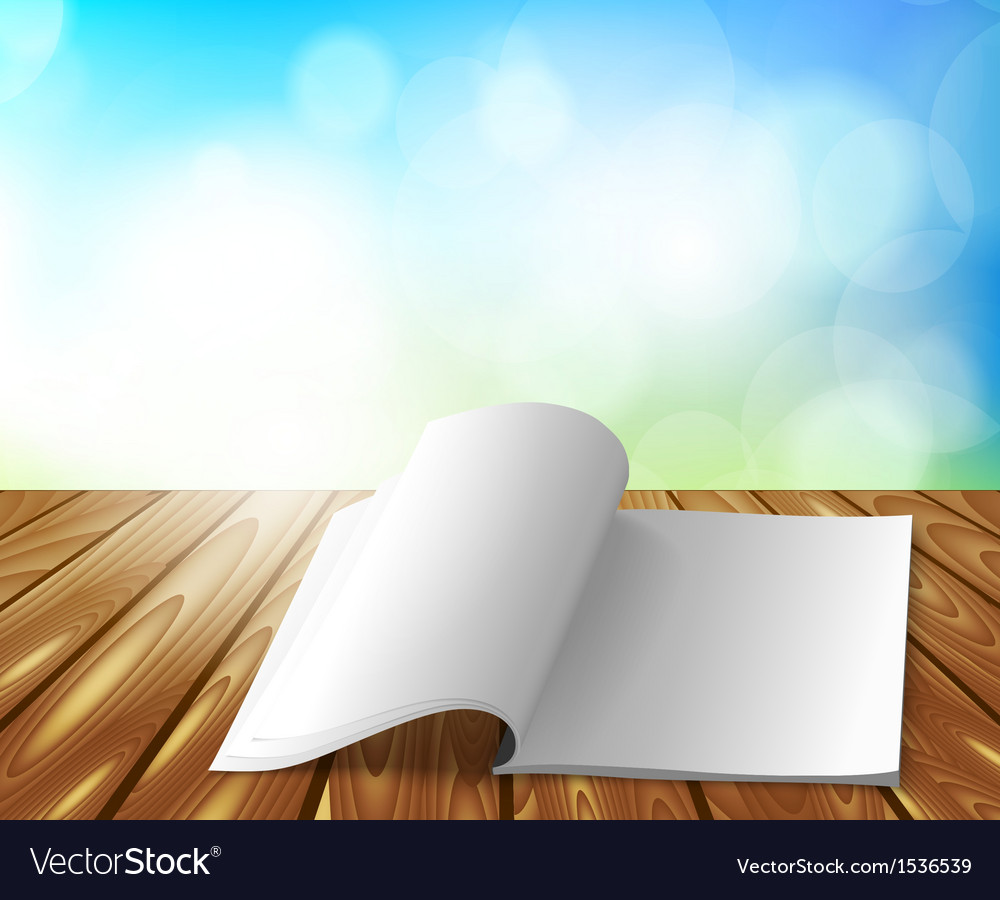 Magazine on wooden table vector | Price: 1 Credit (USD $1)