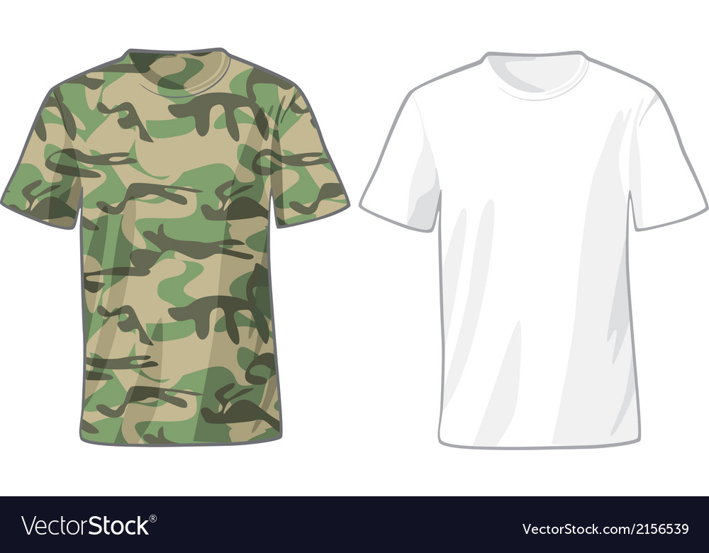 Mens white and military shirts template vector | Price: 1 Credit (USD $1)