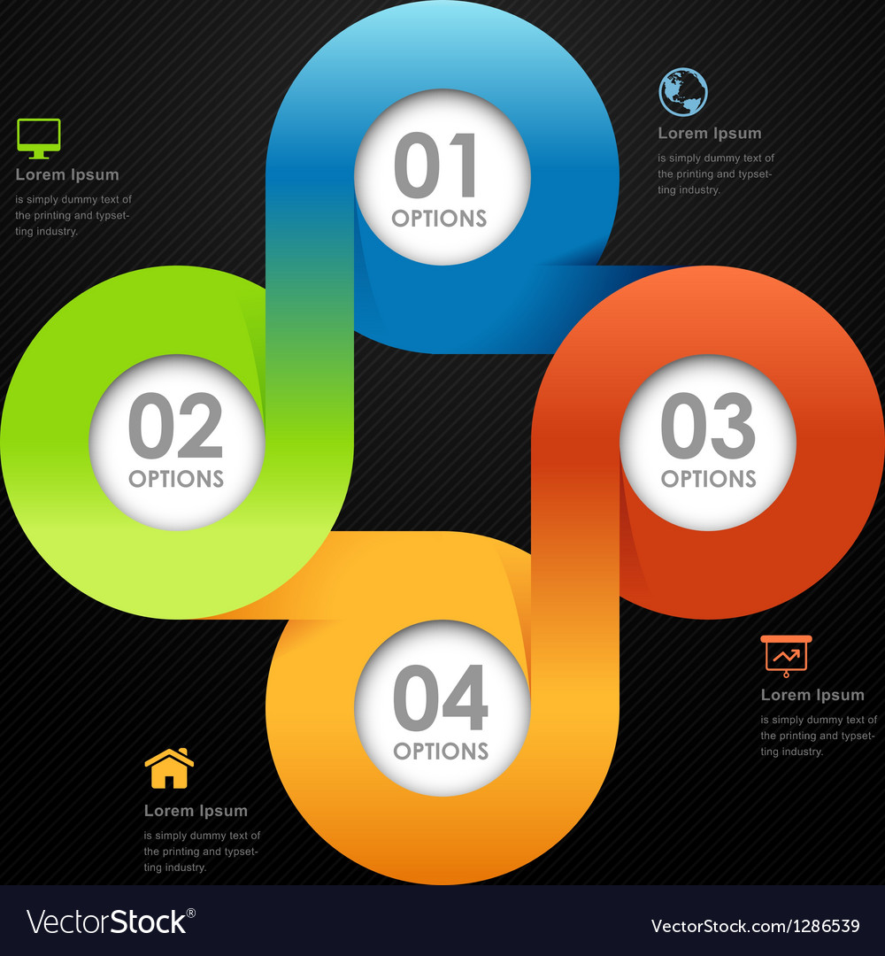 Modern business circle options banner vector | Price: 1 Credit (USD $1)
