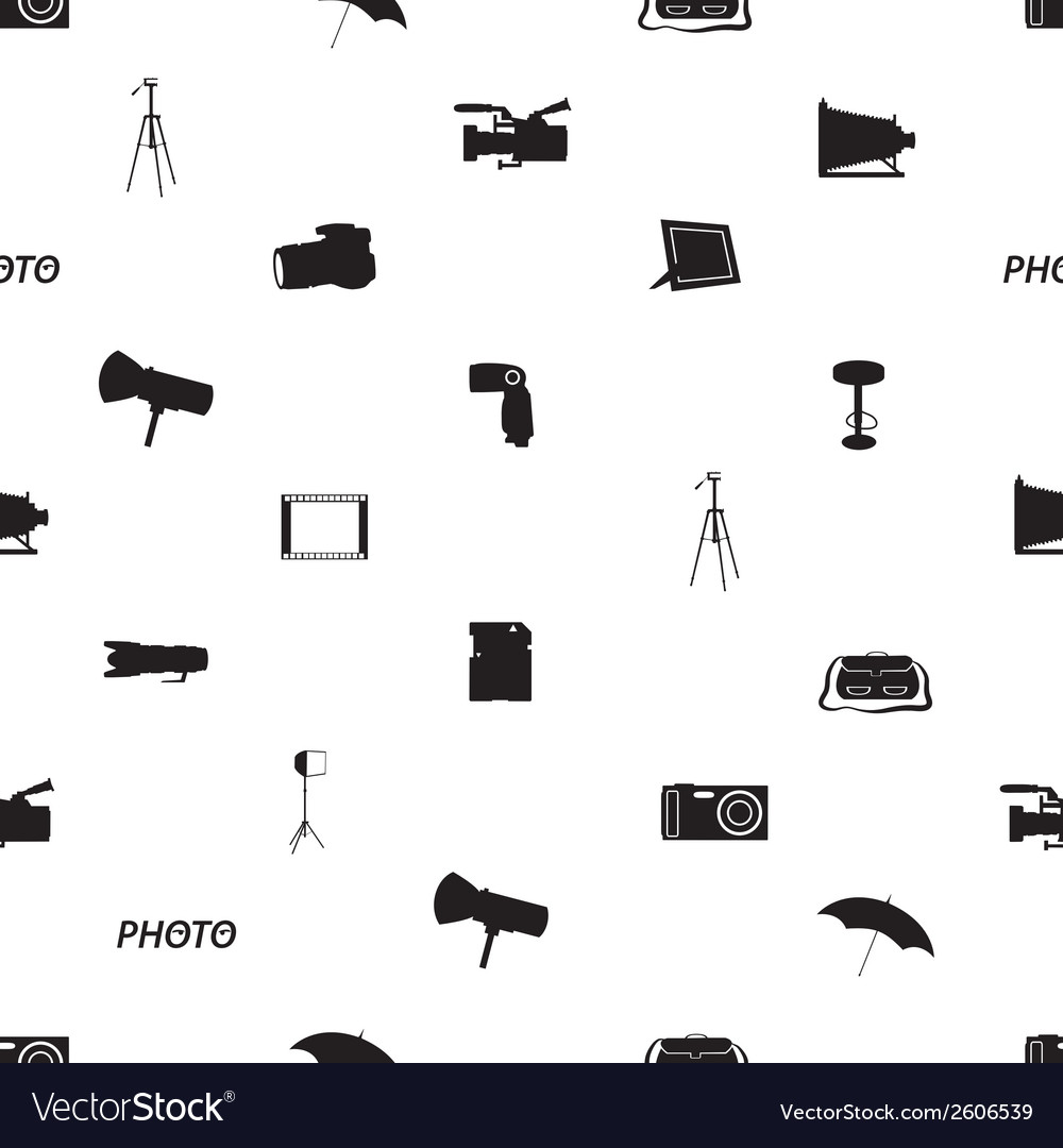 Photographic icon pattern eps10 vector   Price: 1 Credit (USD $1)