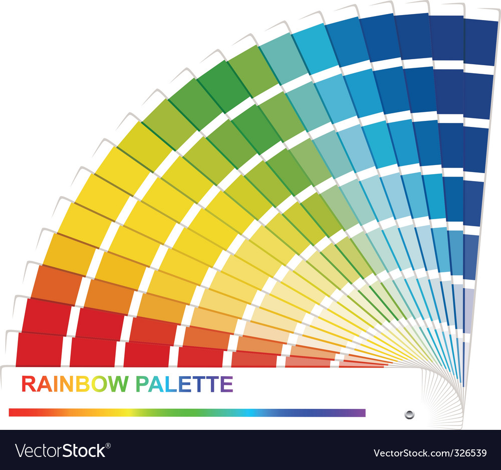Rainbow palette vector | Price: 1 Credit (USD $1)
