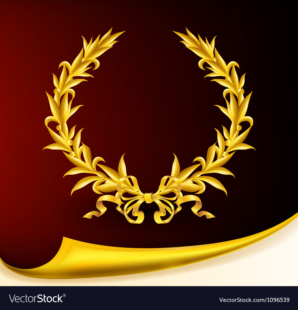 Rich golden wreath vector | Price: 1 Credit (USD $1)