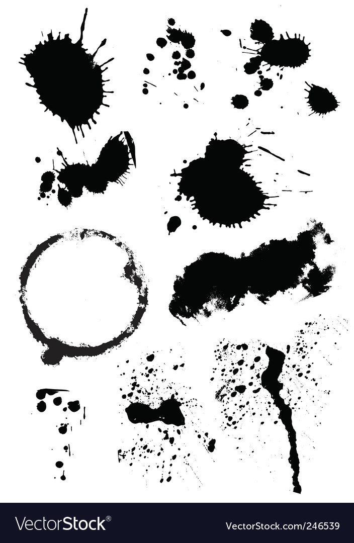 Set of ink blots vector | Price: 1 Credit (USD $1)