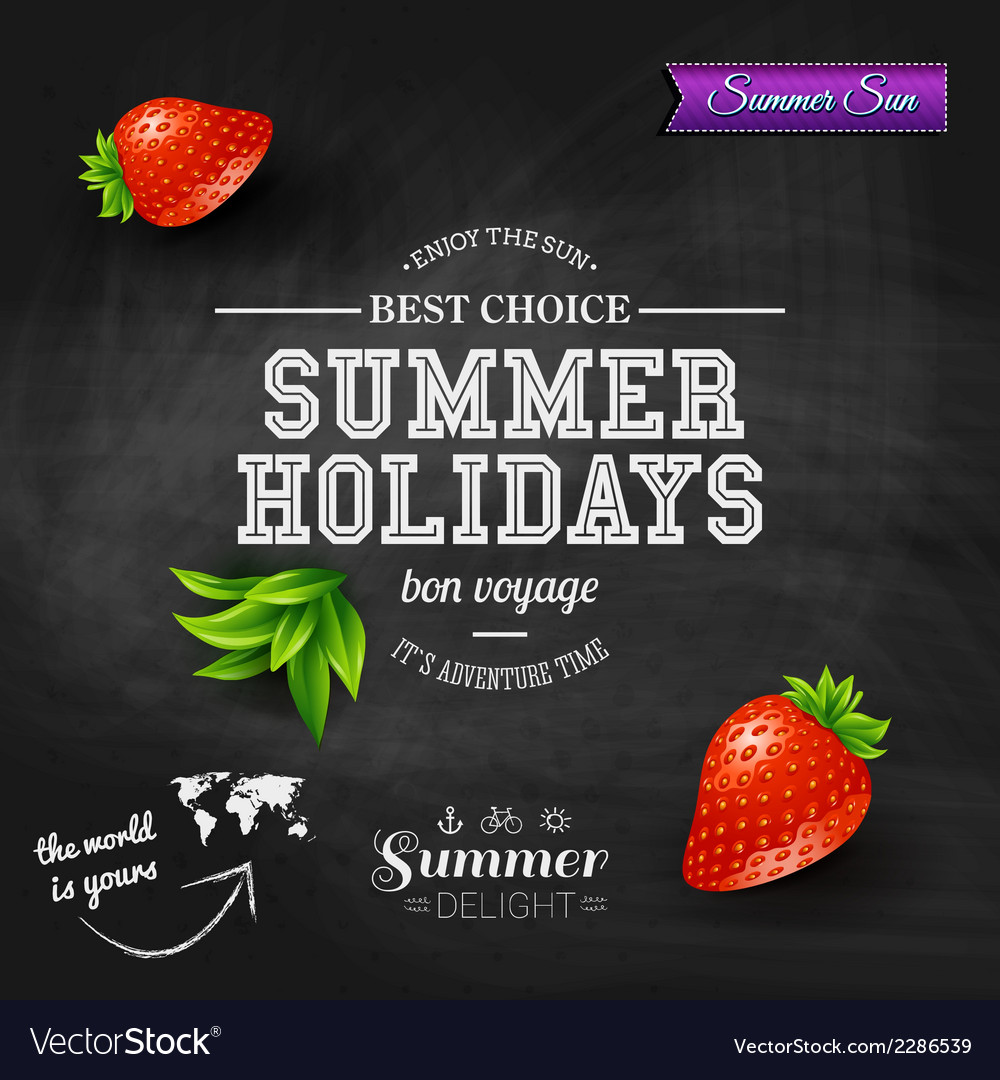 Summer design poster for summer holidays vector | Price: 1 Credit (USD $1)