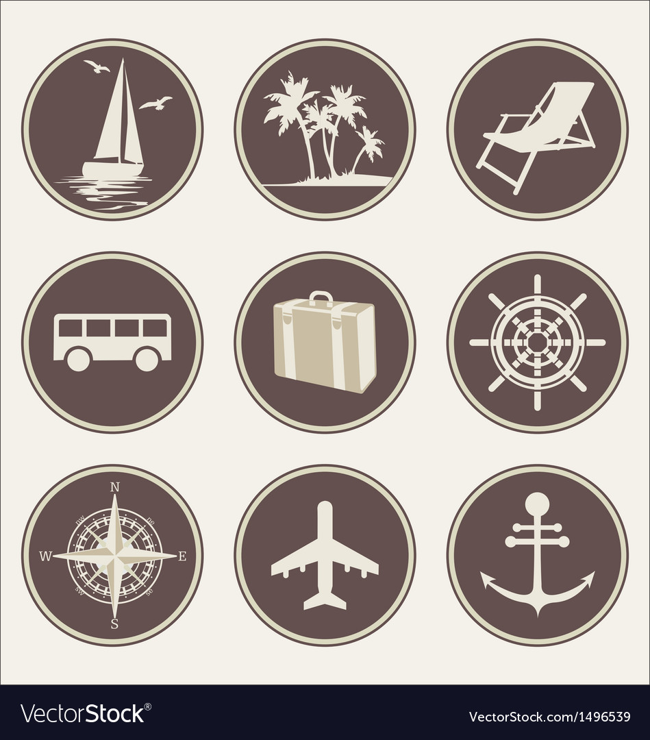 Summer travel icons vector | Price: 3 Credit (USD $3)