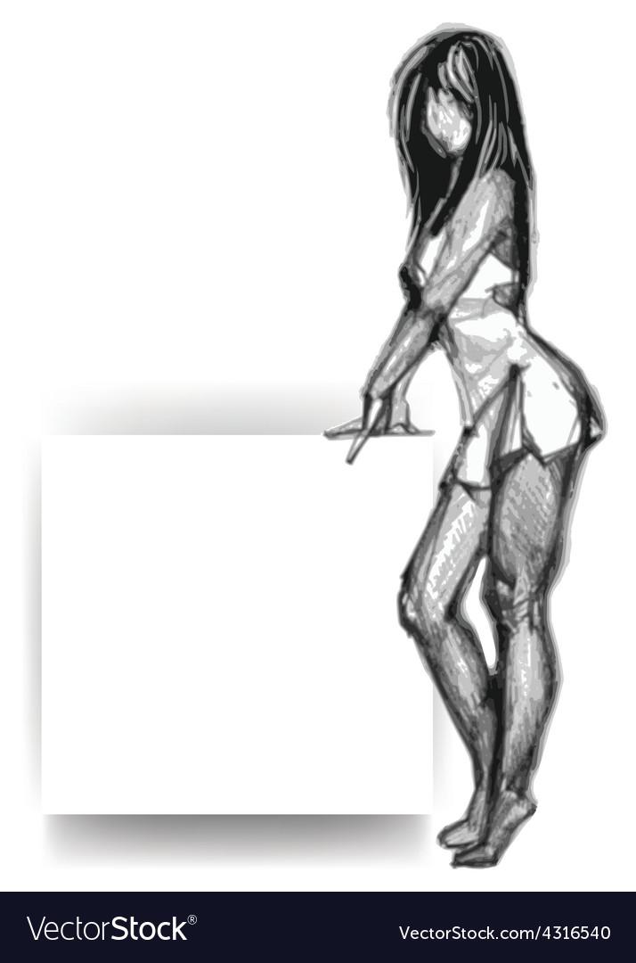 Attractive woman vector | Price: 1 Credit (USD $1)