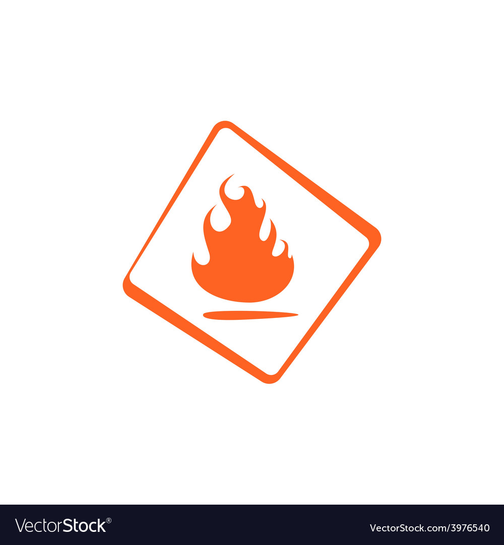 Flammable vector | Price: 1 Credit (USD $1)