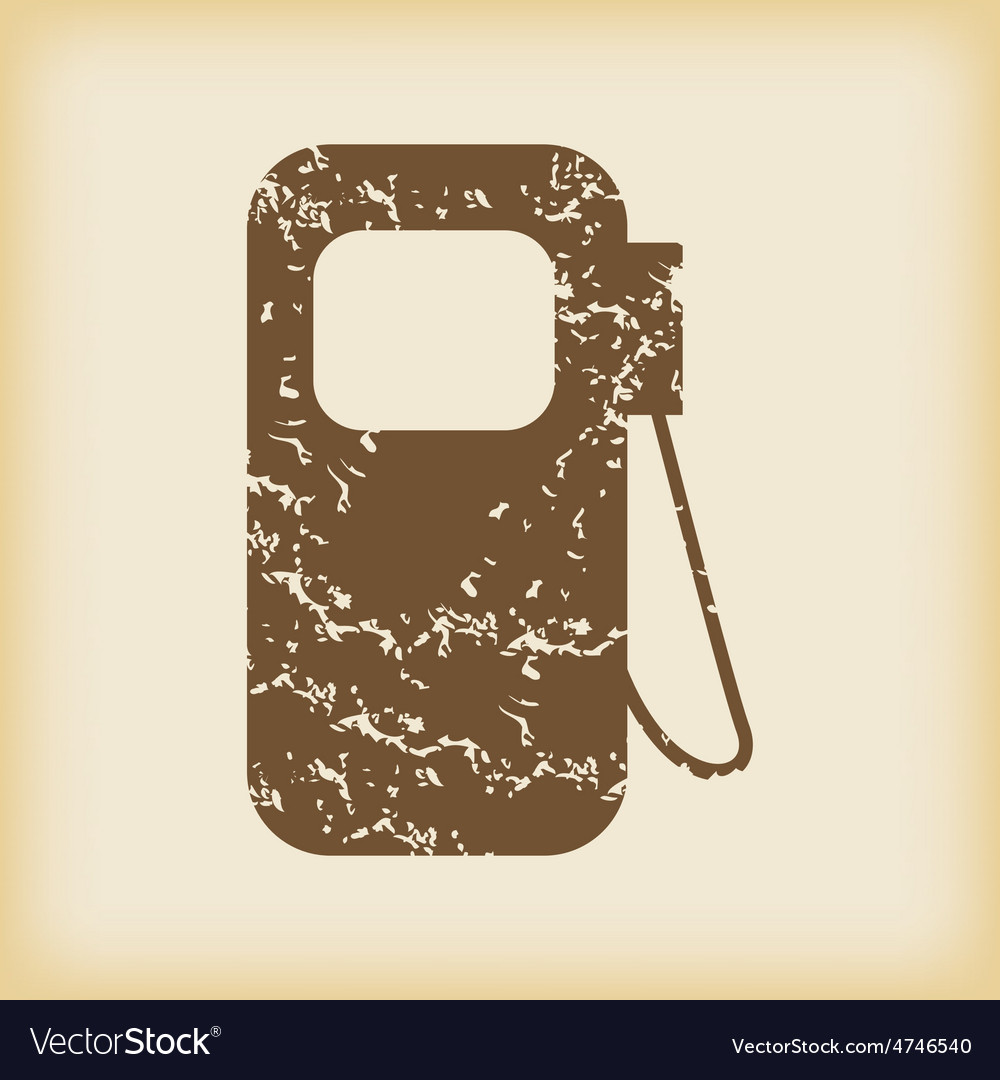 Grungy gas station icon vector | Price: 1 Credit (USD $1)