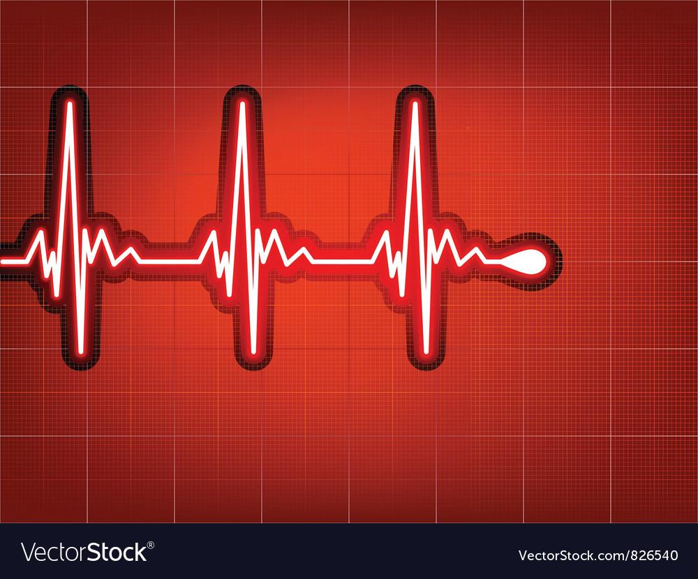 Heart cardiogram vector   Price: 1 Credit (USD $1)