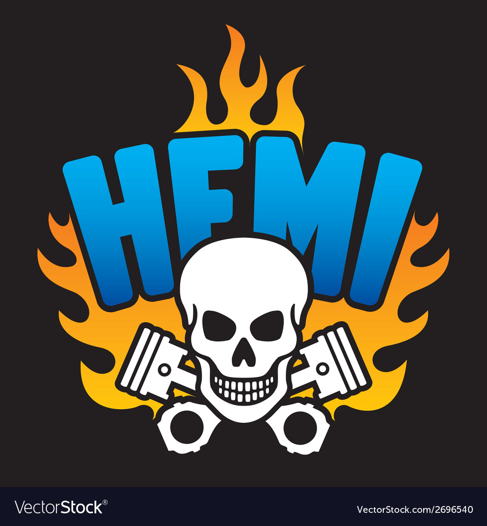 Hemi skull and pistons vector | Price: 1 Credit (USD $1)