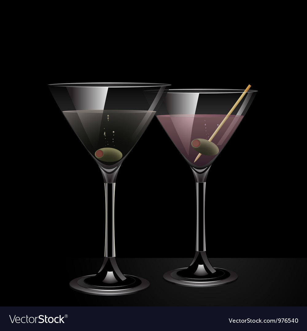 Martini cocktail background vector | Price: 1 Credit (USD $1)