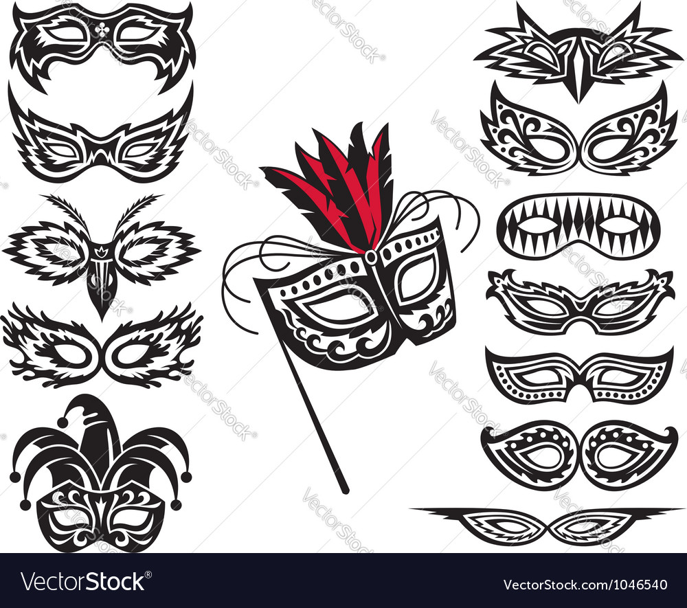 Mask collection vector | Price: 1 Credit (USD $1)