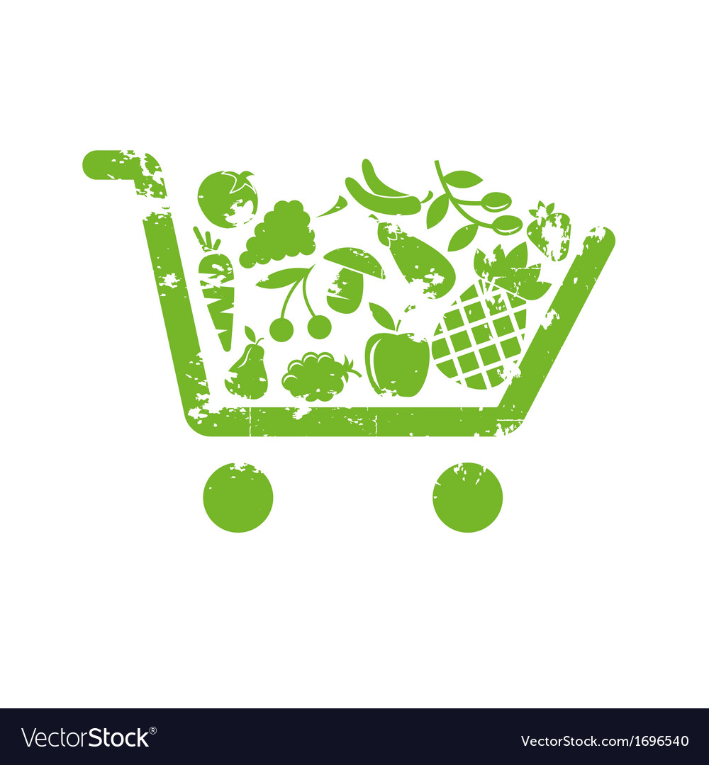 Shopping cart fruit vector | Price: 1 Credit (USD $1)