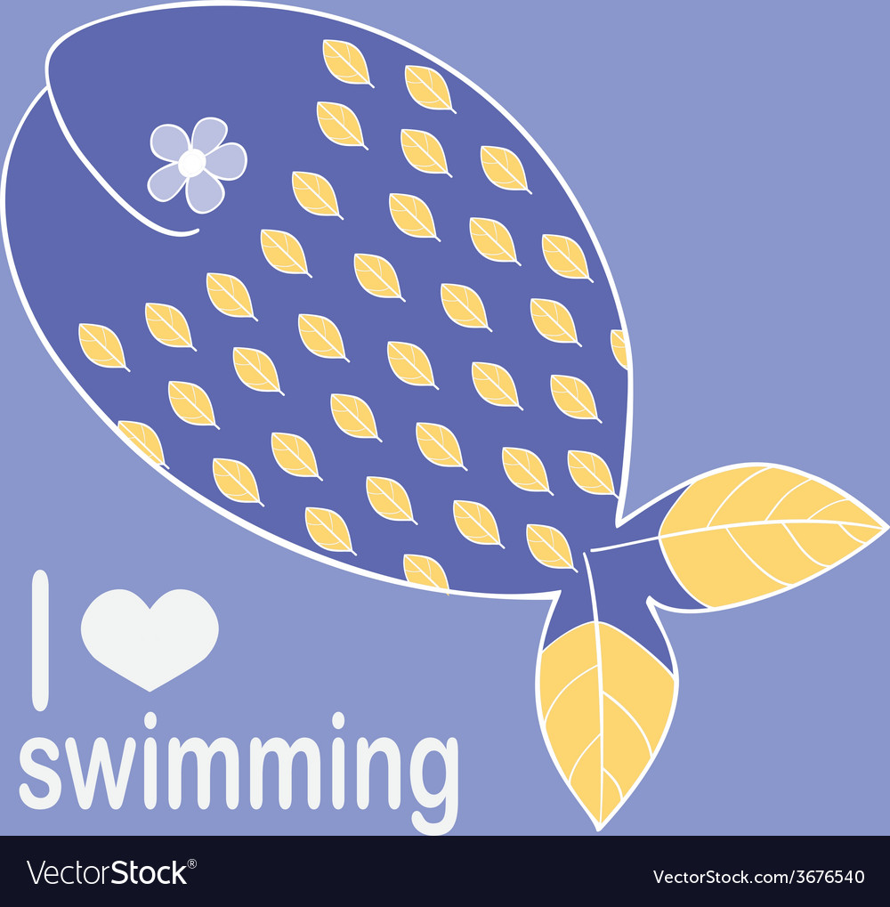 Whale loves swimming vector | Price: 1 Credit (USD $1)