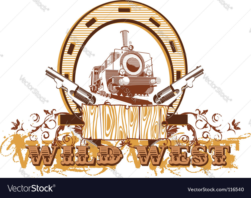 Wild west vignette ii vector | Price: 1 Credit (USD $1)