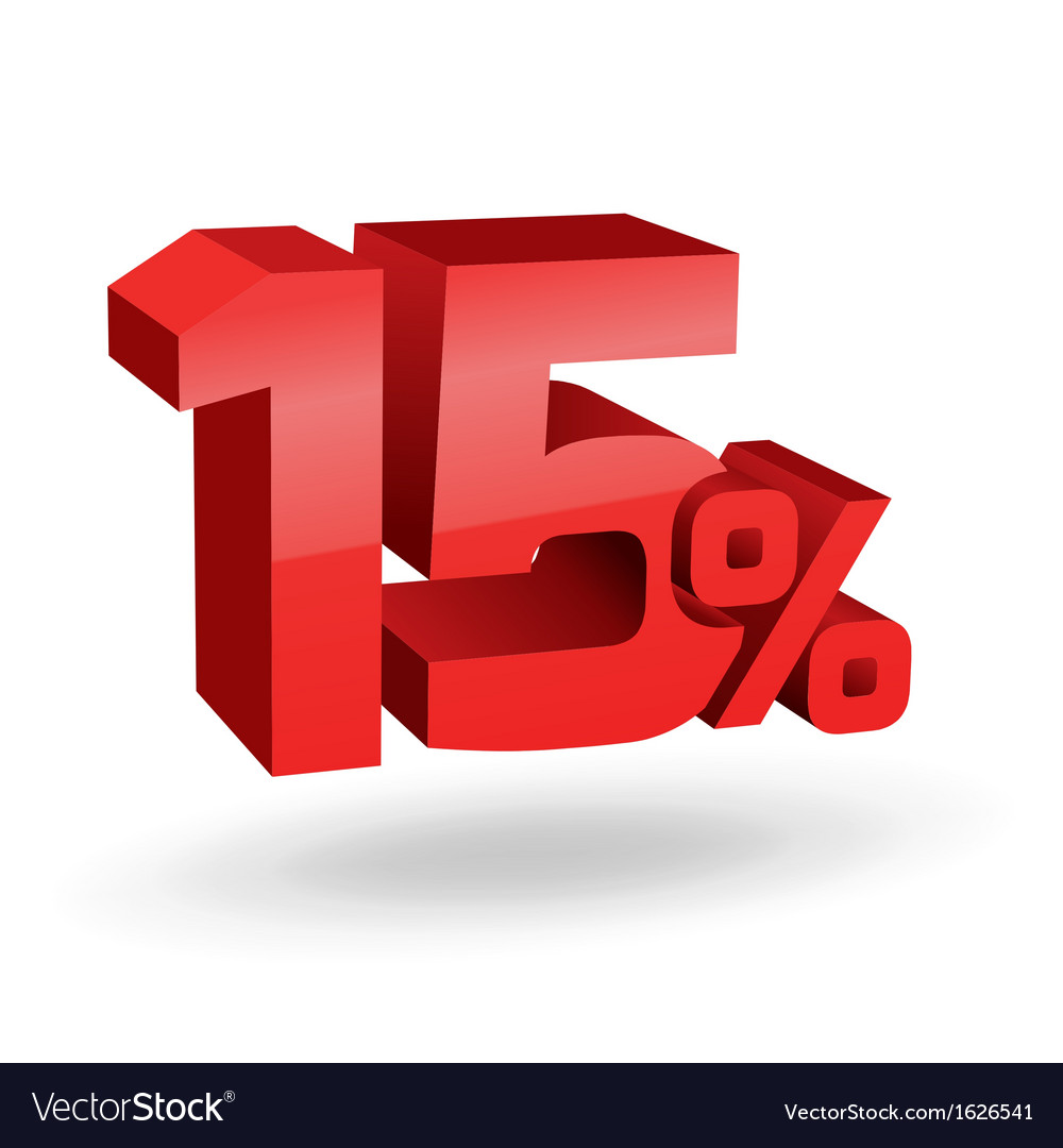 15 percent digits vector | Price: 1 Credit (USD $1)