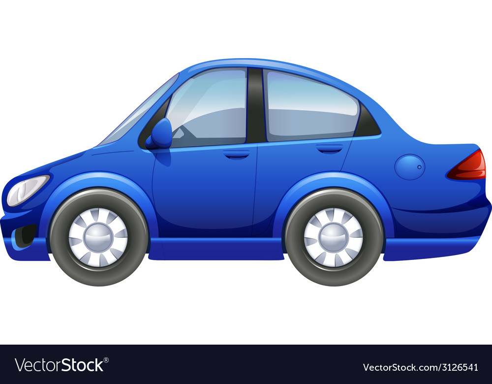 A blue vehicle vector | Price: 1 Credit (USD $1)