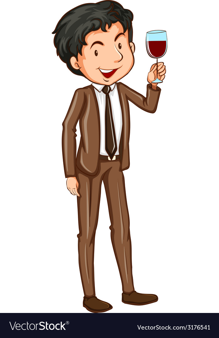 A simple man wearing a formal attire vector | Price: 1 Credit (USD $1)