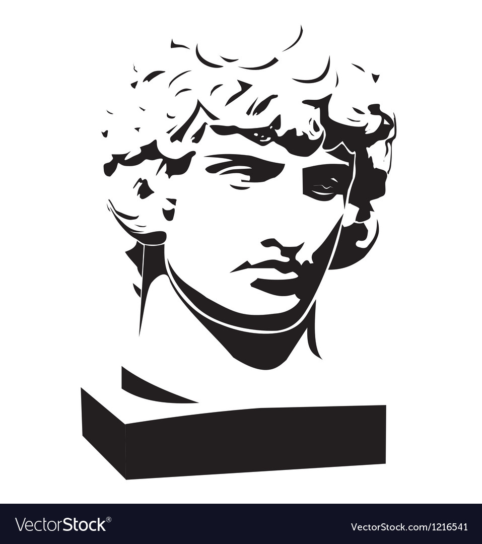 Apollo classic bust and head vector | Price: 1 Credit (USD $1)