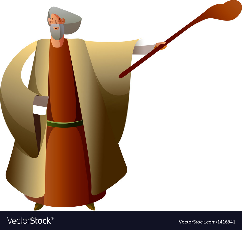 Close-up of man holding stick vector   Price: 1 Credit (USD $1)