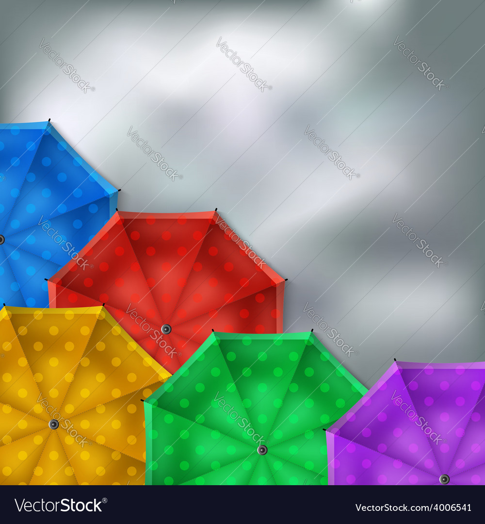 Colored umbrellas background vector | Price: 1 Credit (USD $1)