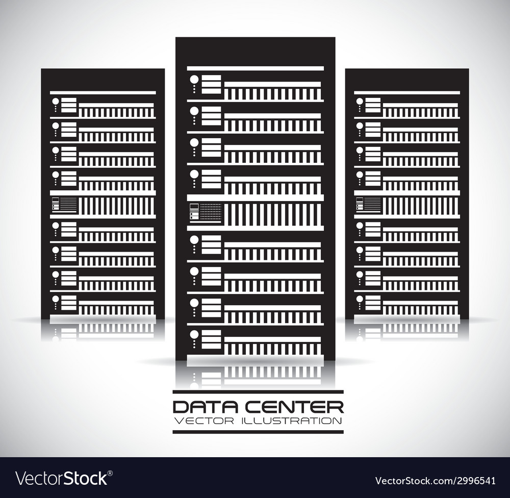 Data center design vector | Price: 1 Credit (USD $1)
