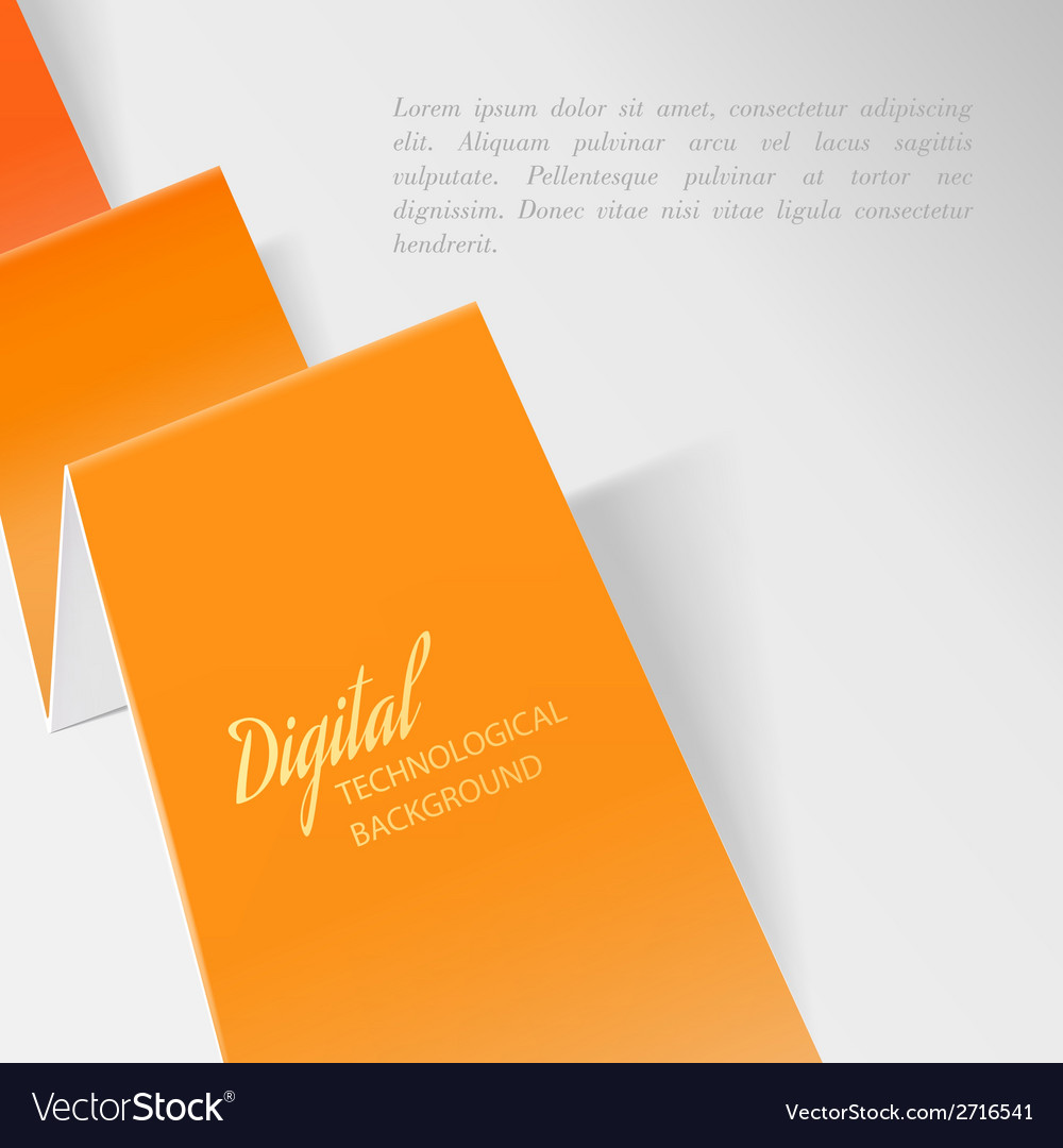 Folded orange paper vector | Price: 1 Credit (USD $1)