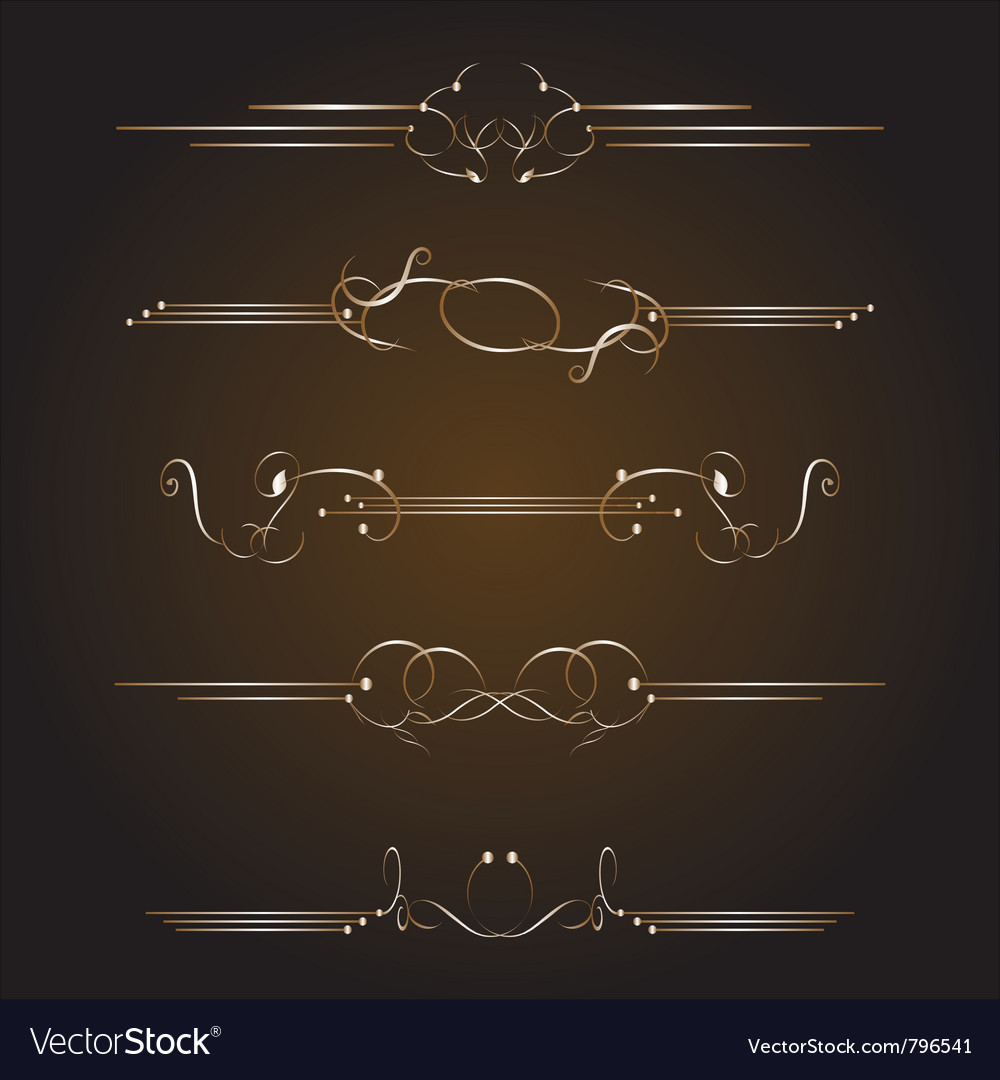 Golden ornate page vector | Price: 1 Credit (USD $1)