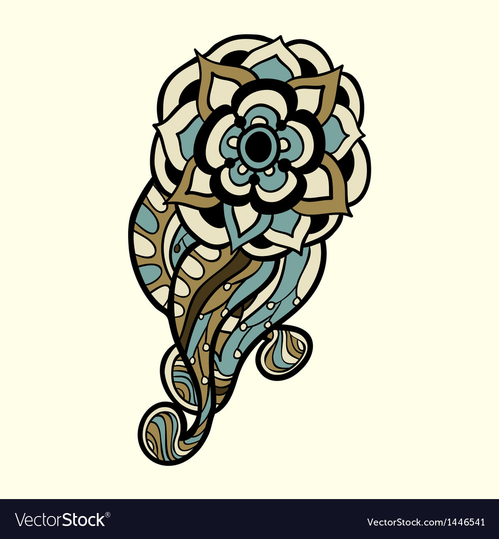 Graphic abstract design element flower vector   Price: 1 Credit (USD $1)