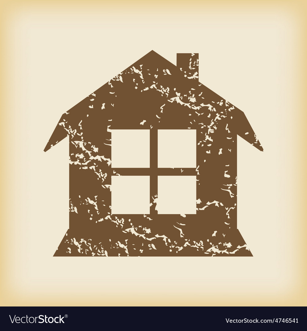 Grungy house with window icon vector   Price: 1 Credit (USD $1)