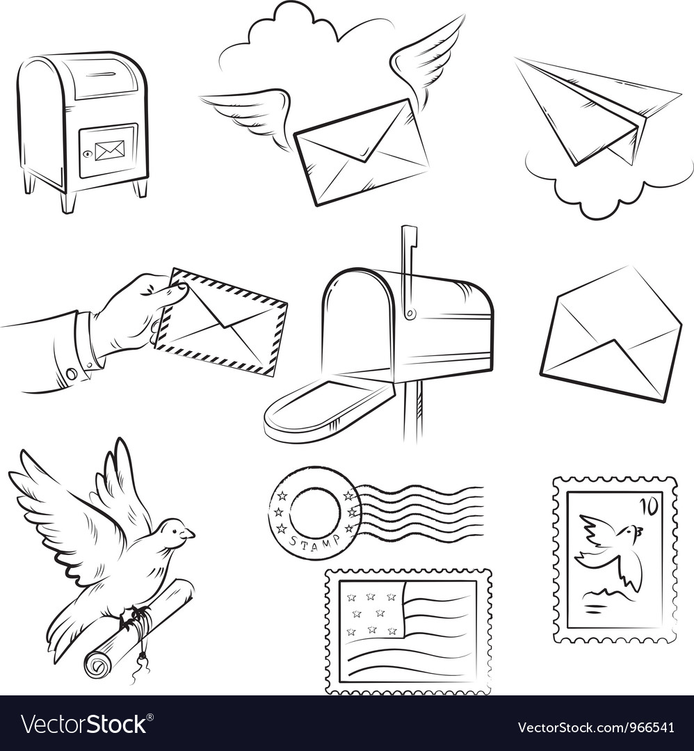 Mail and post delivery vector | Price: 1 Credit (USD $1)