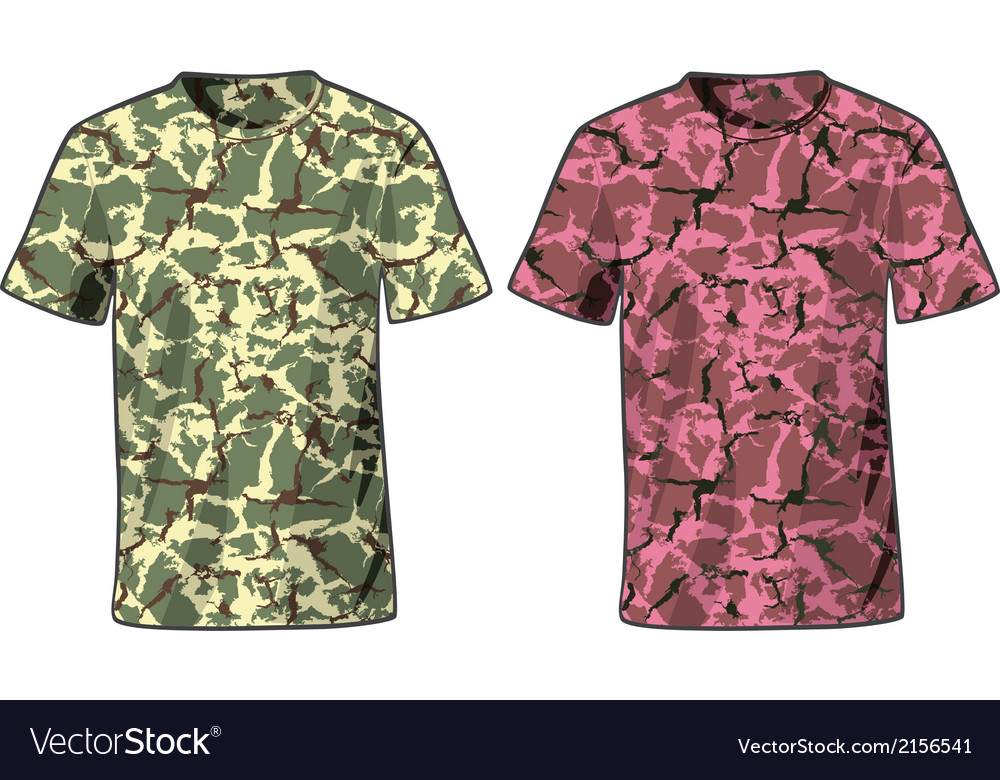Mens military shirts front view template vector | Price: 1 Credit (USD $1)
